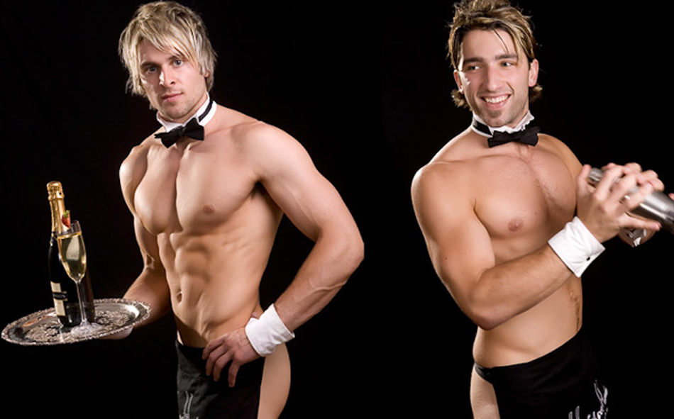 hire topless waiters